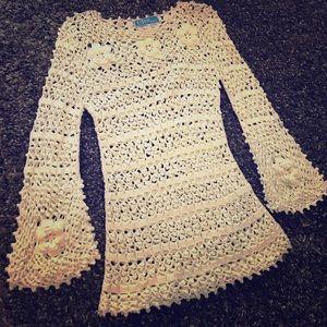 Vintage ✨ crochet dress   size M